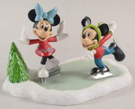 Mickey and Minnie Go Skating